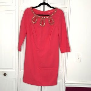 Lilly Pulitzer Pink with Gold Embellishment Dress